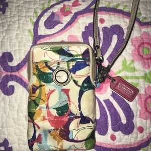 Coach phone case and card holder
